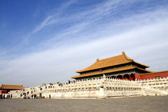 The Forbidden City. This is the most famous historical building in China which called the forbidden city, it is the palace of qing dynasty stock image