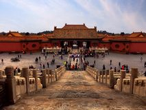 The forbidden city. A must visit place full of beautiful architecture, history and cultural significance Royalty Free Stock Photos