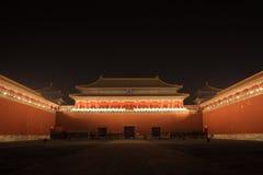 Forbidden city at night Stock Photos