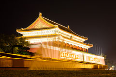 Forbidden city at night Royalty Free Stock Images