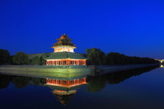 The Forbidden City at night Stock Photography