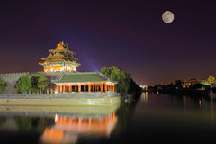 The Forbidden City at night Stock Photos