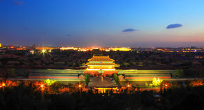 The Forbidden City at night Royalty Free Stock Photos