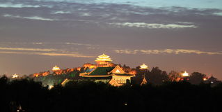 The Forbidden City night piece Royalty Free Stock Photos