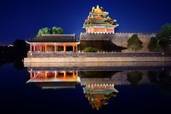 The Forbidden City night piece Royalty Free Stock Images