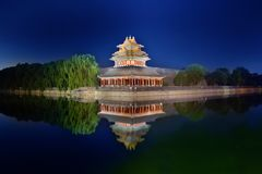 The Forbidden City night piece Stock Images