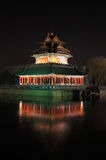 Forbidden city night scene Royalty Free Stock Images