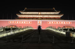 Forbidden City night scene Stock Photos