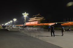 Forbidden City night scene Royalty Free Stock Photography