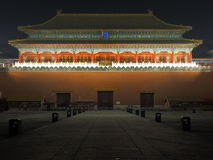 Forbidden City night scenes Stock Photography