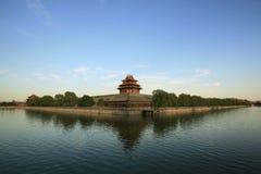 Forbidden City och vallgrav Arkivfoton