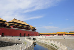 The Forbidden City  and  one river Royalty Free Stock Photography