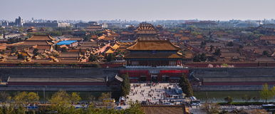 Forbidden city overlook Royalty Free Stock Photography