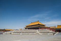 Forbidden city. A palace in forbidden city stock photo
