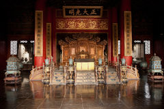 Forbidden City Palace of Heavenly Purity. Eighteen years of Yongle (AD 1420) completed Jiaqing three years (AD 1798) reconstruction Royalty Free Stock Image