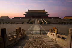 Forbidden City Palace Supreme Harmony Sunrise Royalty Free Stock Images