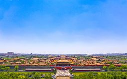 The Forbidden City Panorama. Royalty Free Stock Image