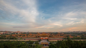 Forbidden City panorama Royalty Free Stock Image