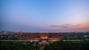 The Forbidden City panorama form day to night stock video footage
