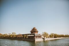 Forbidden City Pavilion Royalty Free Stock Images
