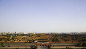 The forbidden city. The photo was shot in the Jingshan Park Royalty Free Stock Images