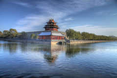 Forbidden city protections walls Royalty Free Stock Photography