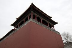 Forbidden city red big wall, Beijing royalty free stock photos