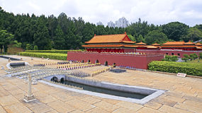 Forbidden city replica at splendid china folk village Royalty Free Stock Photo