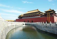Forbidden city and river Stock Photos