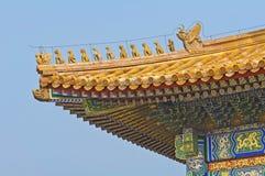 Forbidden City Roof Corner Stock Images
