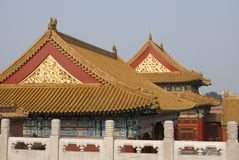 Forbidden city roofs royalty free stock images