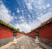 The forbidden city's walls Stock Images