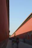 The forbidden city's walls. The road between forbidden city's walls  in beijing,China Stock Photography