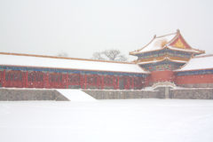 The Forbidden City in the Snow Royalty Free Stock Photo