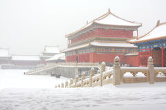 The Forbidden City in the Snow Stock Photography