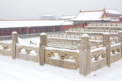 The Forbidden City in the Snow Royalty Free Stock Photos