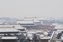 Forbidden city after snow Stock Photography