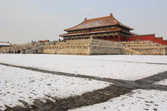 Forbidden city after snow Stock Image