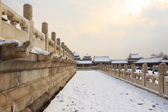 Forbidden city after snow Royalty Free Stock Images