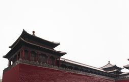 Forbidden city in snow Stock Photos