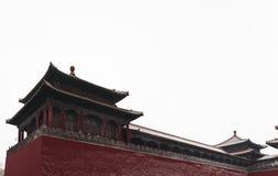 Forbidden city in snow. Building of forbidden city in beijing Stock Photos