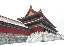 Forbidden city in snow. Building of forbidden city in beijing Stock Photography