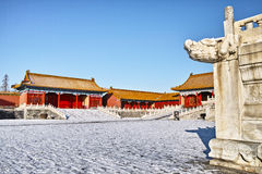 Forbidden City after the snow Stock Image