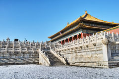 Forbidden City after the snow Royalty Free Stock Images