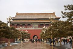 Forbidden City and snows, Beijing royalty free stock photo
