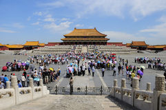 The Forbidden City square Stock Photos