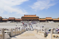 Forbidden City square. In beijing royalty free stock photos