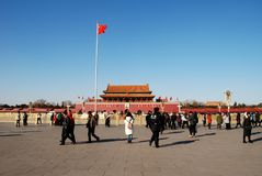 Forbidden City and Square of Heavenly Peace stock images