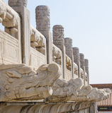 Forbidden City Statue Stock Photo