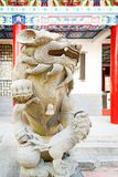 Forbidden City stone lions Royalty Free Stock Image